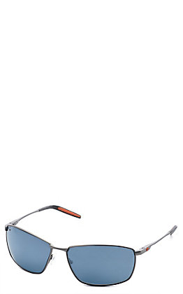 Costa Turret Matte Silver/Orange Polarized Sunglasses