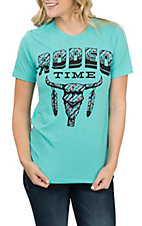 Women's Seafoam Rodeo Time Short Sleeve T-Shirt