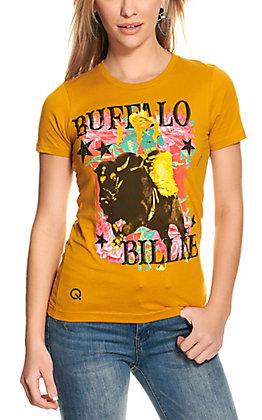 Rodeo Quincy Women's Gold Buffalo Billie Short Sleeve T-Shirt