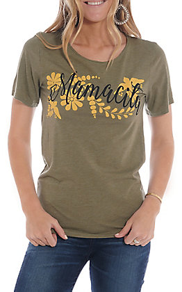 Rodeo Quincy Women's Olive Mamacita T-Shirt
