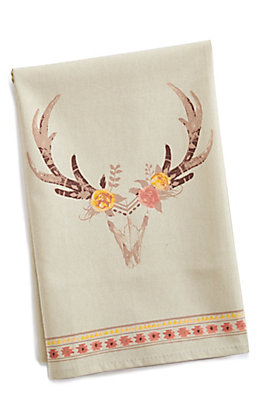 Skull Floral Kitchen Towel