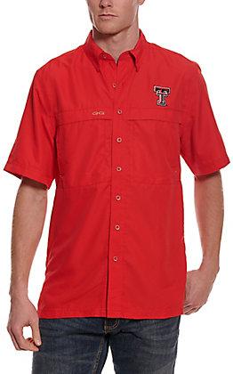 GameGuard Outdoors Men's Red MicroFiber Texas Tech Fishing Shirt