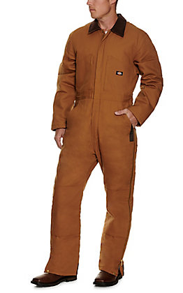 Dickies Men's Brown Duck Insulated Coveralls