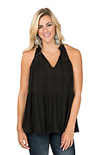 Wishlist Women's Black Sleeveless Fashion Shirt