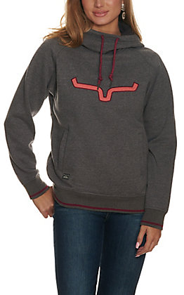 Kimes Ranch Women's Heather Grey Two Scoops Hoodie