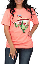 Women's Coral Texas Desert T-Shirt