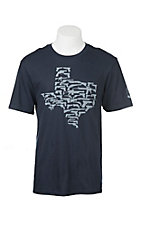 Mason Jar Label Navy Texas Gun State T-Shirt