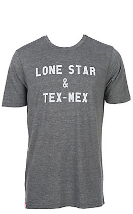 Tumbleweed Texstyles Men's Charcoal Grey Lone Star & Tex Mex Short Sleeve T-Shirt