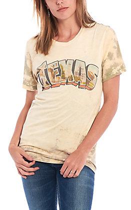 Gina Women's Texas Postcard Acid Green Short Sleeve T-Shirt
