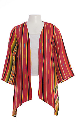 Lucky & Blessed Girls' Pink Serape Kimono