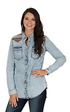 Ryan Michael Women's Serape Yoke Long Sleeve Western Shirt