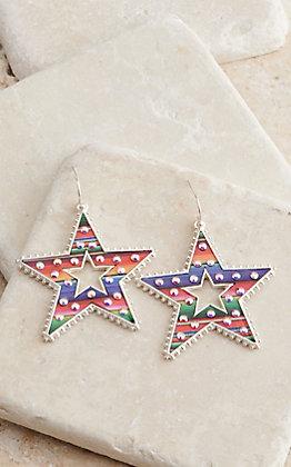 Amber's Allie Women's Star Serape Dangle Earrings