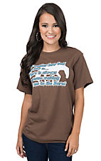 Horses Unlimited Women's Brown Waiting In The Barn T-Shirt