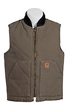 Carhartt Men's Brown Sandstone Mock Collar Vest