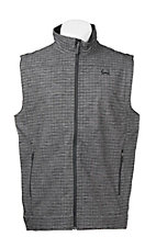 Cinch Men's Grey Grid with Black Sleeveless Bonded Vest