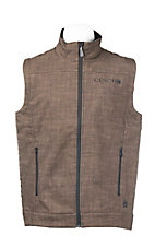 Cinch Men's Brown Print with Black Accents Sleeveless Bonded Vest