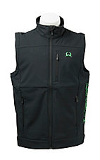 Cinch Tech Men's Black with Green Logos Bonded Vest