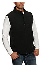 Cinch Men's Black Bonded w/ Black Logo and Concealed Carry Pocket Vest