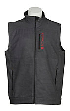Cinch Men's Grey Space Dye Bonded w/ Red Logo Cavender's Exclusive Vest