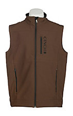Cinch Men's Brown Bonded w/ Black Logo Cavender's Exclusive Vest