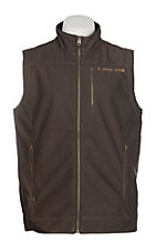 Cinch Cavender's Exclusive Men's Brown Contrast Stitching Bonded Vest