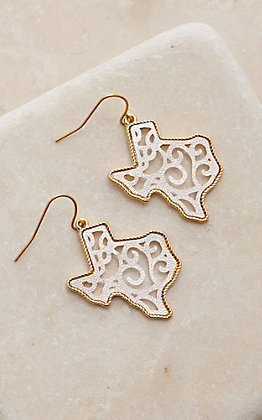 Amber's Allie Texas Filigree Dangle Earrings