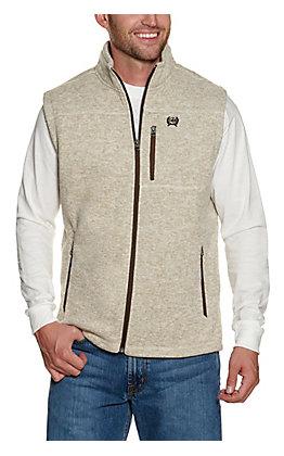 Cinch Men's Cream Heather Sweater Vest