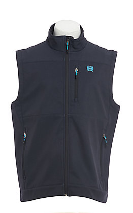 Cinch Men's Charcoal & Turquoise Bonded Vest