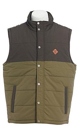 Cinch Men's Olive Color Block Puffer Vest