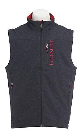 Cinch Cavender's Exclusive Men's Charcoal & Red Bonded Vest