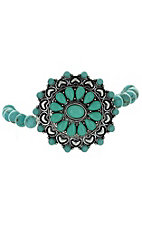 Silver and Turquoise Concho Bracelet