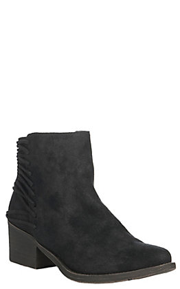Volatile Women's Black Merrick with Lace Up Details Bootie
