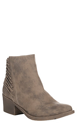 Volatile Women's Taupe Merrick with Lace Up Details Bootie