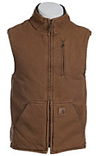 Carhartt Brown Sandstone Lined Mock-Neck Vest