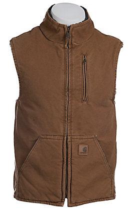 Carhartt Brown Sandstone Lined Mock-Neck Vest