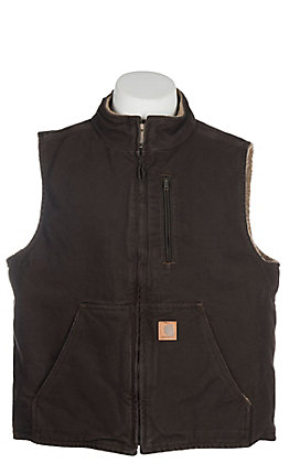 Carhartt Men's Dark Brown Sherpa Vest