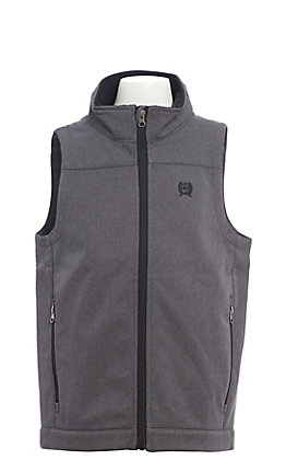Cinch Boys' Textured Grey Bonded Vest