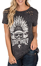 Vintage Havana Charcoal Native Spirit Fashion Top