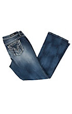 Vigoss Women's Distressed Dublin Boot Cut Jeans - Plus Size