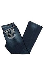 Vigoss Women's Rhinestone Pocket Dublin Boot Cut Jeans - Plus Size