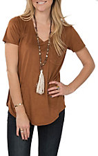 Another Love Women's Phoenix Suede Tobacco Tee