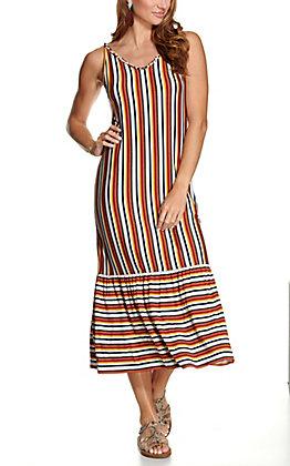 Another Love Women's Retro Stripes Sleeveless Maxi Dress