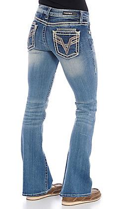 Vigoss Women's Medium Wash V Stitch Kendra Dublin Bootcut Jeans
