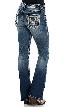 Vigoss Women's Kendra with Dublin Double Pockets Boot Cut Jeans