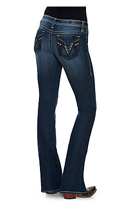Vigoss Women's Medium Wash Boot Cut Jeans - Plus Size