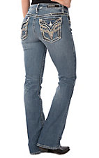 Vigoss Women's New York Medium Wash Boot Cut Jeans