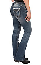 Vigoss Women's Dallas Boot Cut Medium Wash Jeans