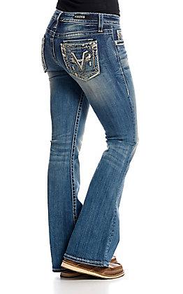 540643c59cc Vigoss Women s Dark Wash V Stitch Kendra Classic Fit Boot Cut Jeans