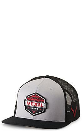 Vexil Dakota Grey and Black with Red Aztec Logo Patch Cap
