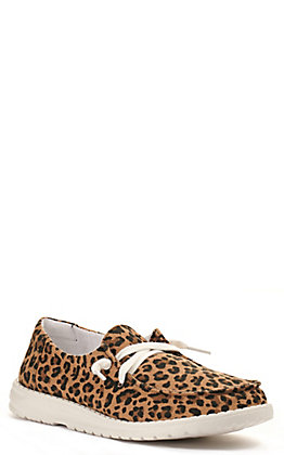 Gypsy Jazz by Very G Women's Hooray Leopard Print Lace Up Sneakers Casual Shoes